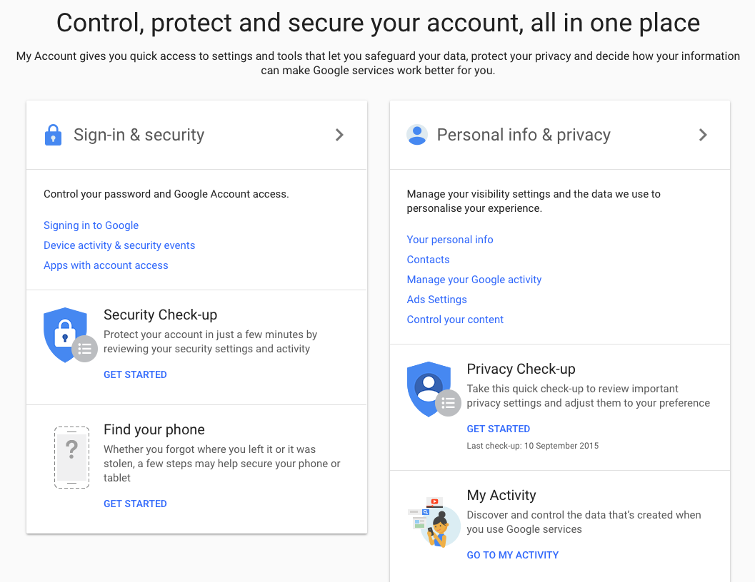 make up a new google account